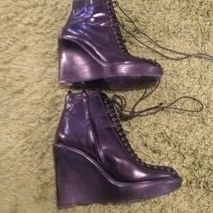 Givenchy Booties in Black Leather Size 40 US 9